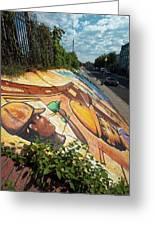 Street Art At Washington D.c. - Cultivating The Rebirth 3 Greeting Card