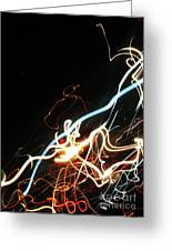 Street Busy At Night  Abstract Greeting Card