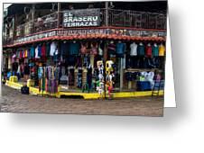 Street Commerce At Ataco Greeting Card