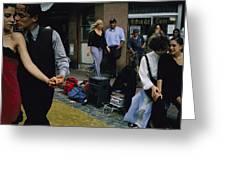 Street Dancers Perform Theatrics Greeting Card