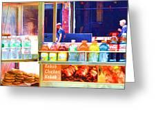 Street Food 3 Greeting Card