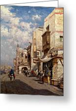 Street In Cairo Greeting Card