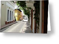 Street In Colombia Greeting Card