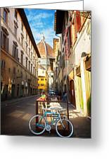Street In Florence Greeting Card