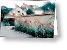 Street In Giverny, France Greeting Card