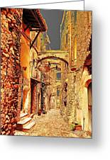 Street In Old Town. Greeting Card