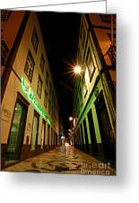 Street In Ponta Delgada Greeting Card