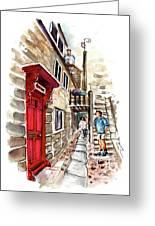 Street In Robin Hoods Bay 01 Greeting Card