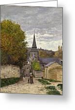 Street In Sainte Adresse Greeting Card