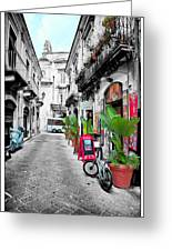 Street In Sicily Greeting Card