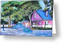 Street In St Augustine Greeting Card
