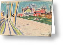 Street In The Bronx Greeting Card