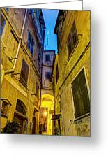 Street In Vernazza Greeting Card