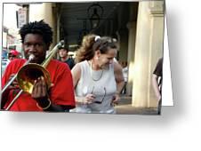 Street Jazz Greeting Card