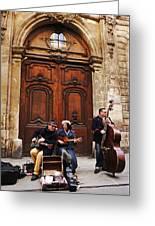 Street Jazz Paris France Greeting Card