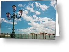 Street Lamp At Venice, Italy Greeting Card