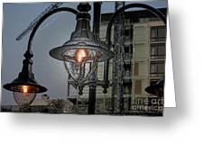 Street Lamp Greeting Card by Yavor Kanchev