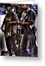 Street Musicians Greeting Card