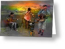 Street Musicians In Prague In The Czech Republic 03 Greeting Card