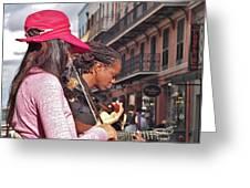 Street Musicians Greeting Card