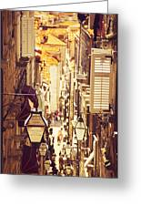 Street Of Dubrovnik Old Town Greeting Card