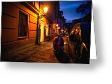 Street Of Prague Greeting Card