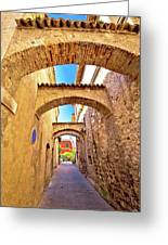 Street Of Sirmione Historic Architecture View Greeting Card