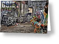 Street Phenomenon Biggie Greeting Card by The DigArtisT