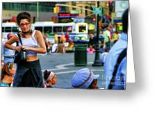 Street Photography Nyc Paint  Greeting Card
