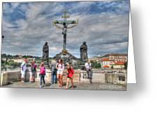 street Praha Chehia Greeting Card