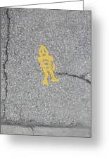 Street Robot Greeting Card