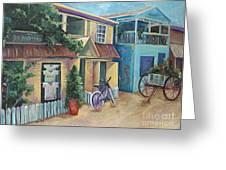 Street Scene In Belize Greeting Card by Karen Ahuja