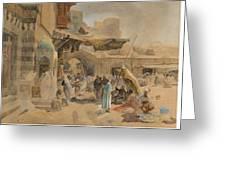 Street Scene In Jaffa Greeting Card