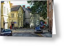 Street Scene In Strangnas Greeting Card