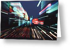 Street Scene In Tokyos Ginza District Greeting Card