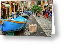 Street Scene Manarola Italy Dsc02634 Greeting Card