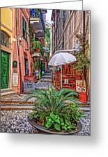 Street Scene Monterosso Italy Dsc02470 Greeting Card