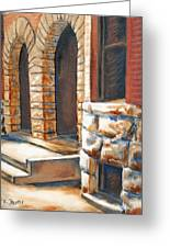 Street Scene Oil Painting Greeting Card