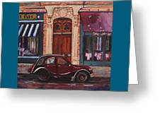 Street Scene Paris 3 Greeting Card