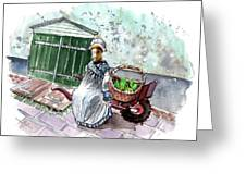 Street Seller In Helsingor Greeting Card