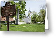 Street Sign In Fitzwilliam, New Hampshire Greeting Card