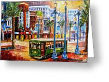 Streetcar On Canal Street Greeting Card