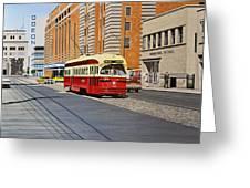 Streetcar On Carlton Circa 1970 Greeting Card