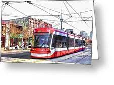 Streetcar On Spadina Avenue #17 Greeting Card