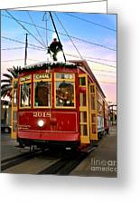Streetcar Sunset Greeting Card
