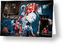 Streets And Art In Colour. Greeting Card