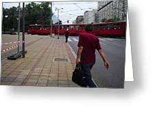 Streets Of Belgrade Greeting Card