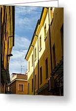 Streets Of Cesena 7 Greeting Card