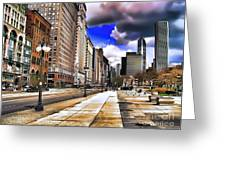Streets Of Chicago Greeting Card
