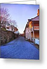 Streets Of Harpers Ferry Greeting Card